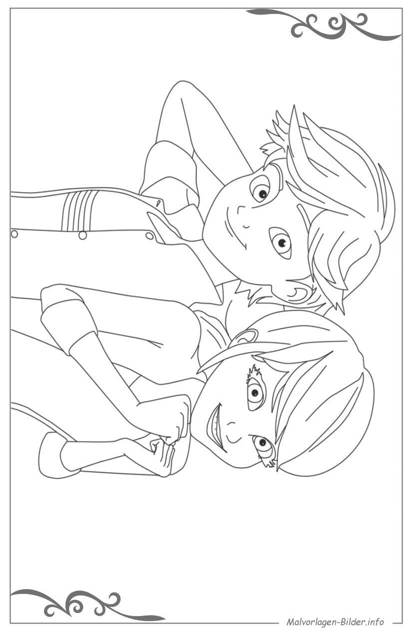 Ladybug Ausmalbilder  Ladybug und Cat Noir malvorlagen für jungs zum ausdrucken