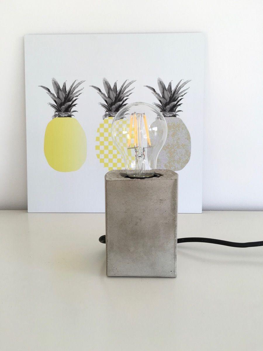 Lampe Diy  Beton Lampe selbermachen diy I DIY