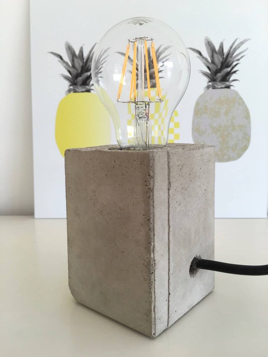 Lampe Diy  Lampe mit Sockel aus Beton HANDMADE Kultur