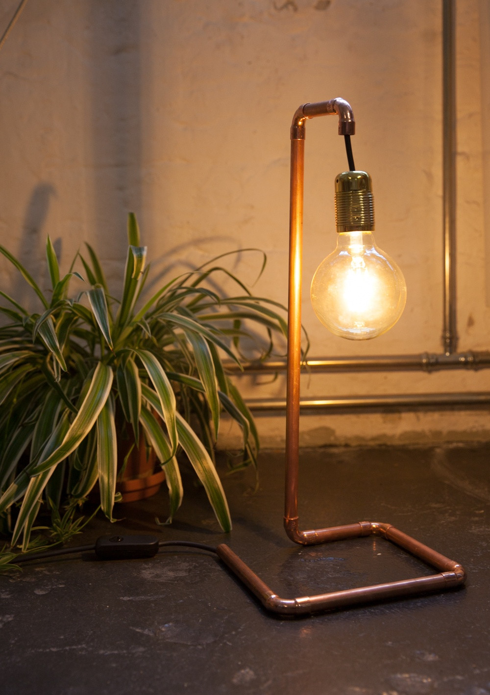 Lampe Diy  DIY Lampe im Industriedesign