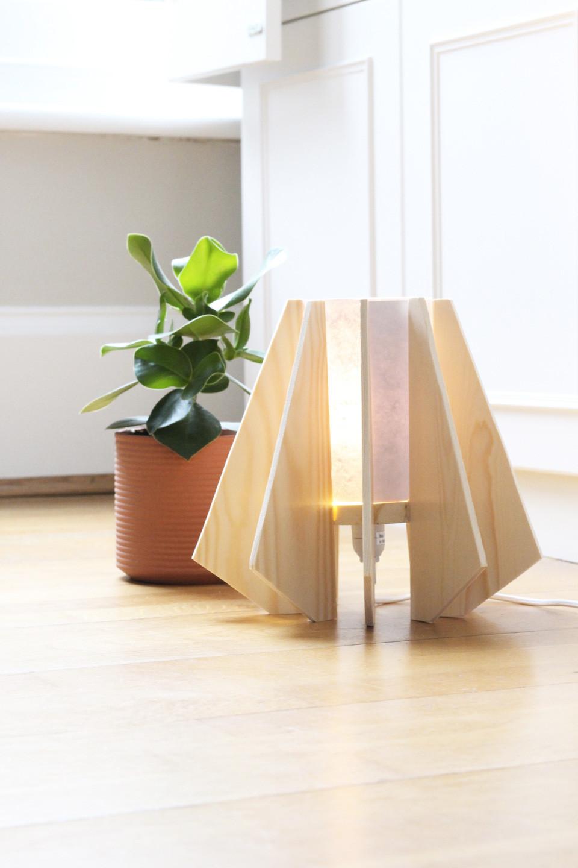 Lampe Diy  Une lampe en bois PEFC DIY