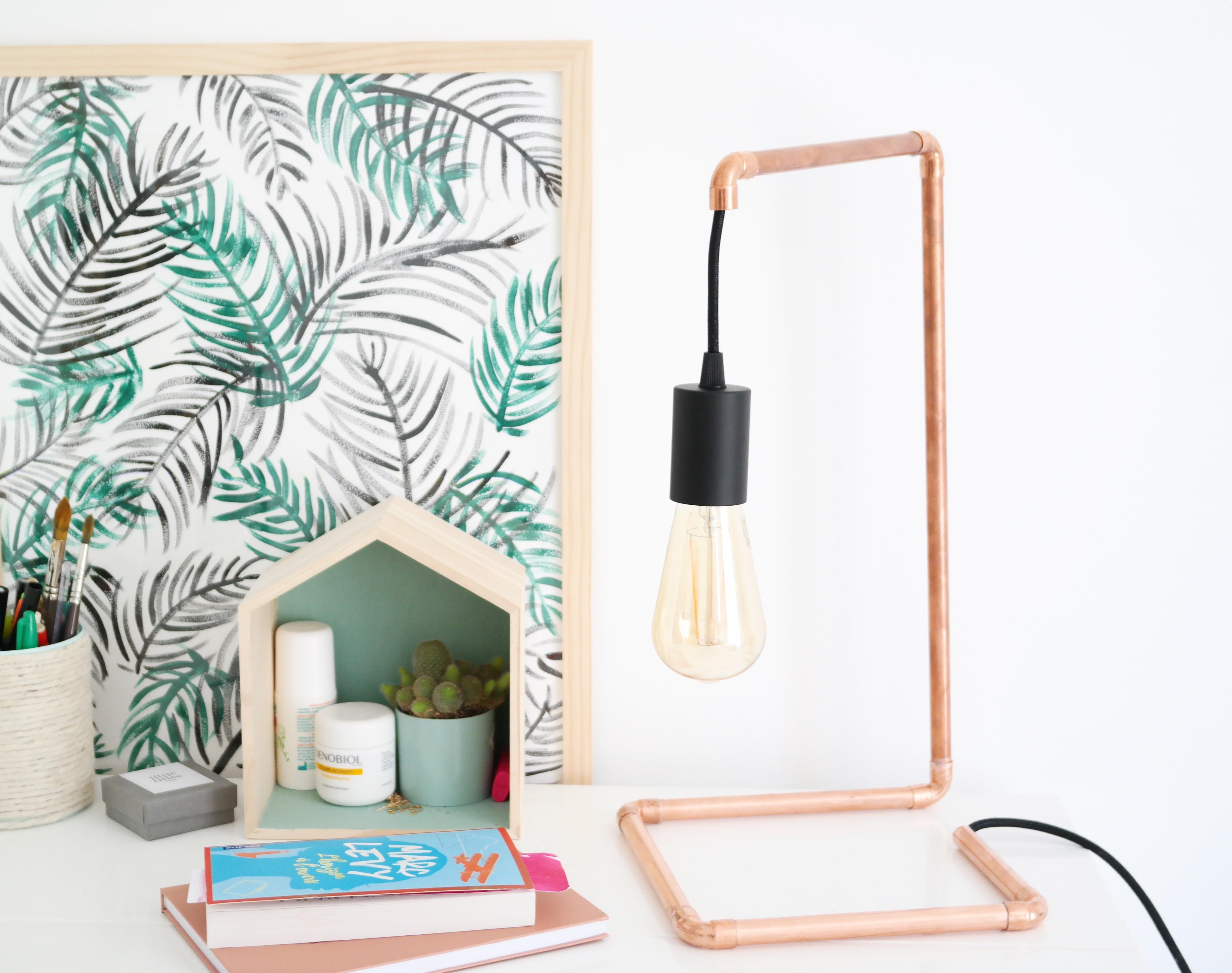 Lampe Diy  DIY UNE LAMPE EN CUIVRE FACILE À RÉALISER ShylyLovely
