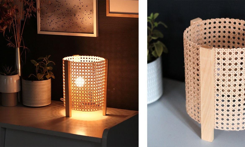 Lampe Diy  DIY lampe cannage