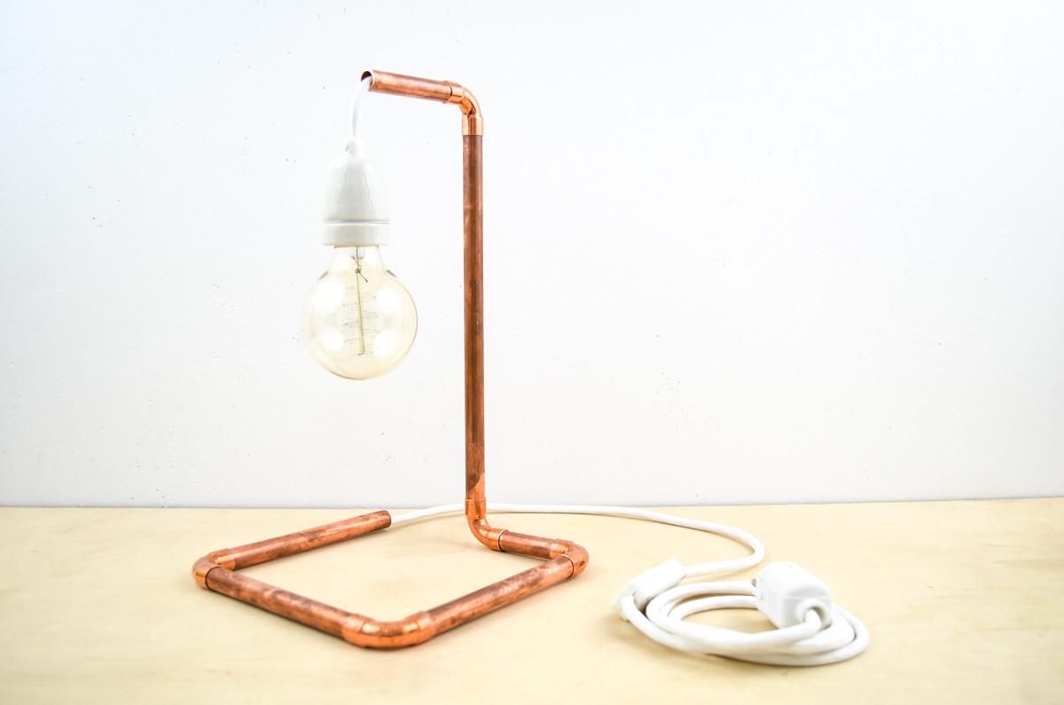 Lampe Diy  DIY Kupfer Lampe aus dem Baumarkt