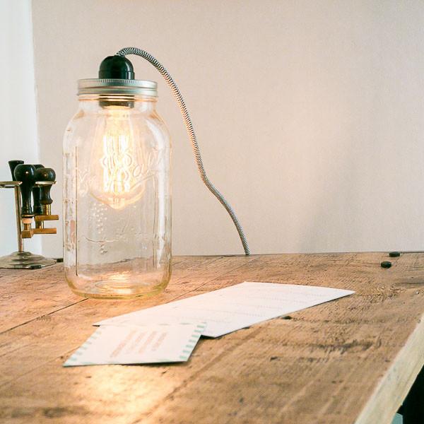 Lampe Diy  Le kit déco lampe baladeuse Mason Jar par Prêt à créer