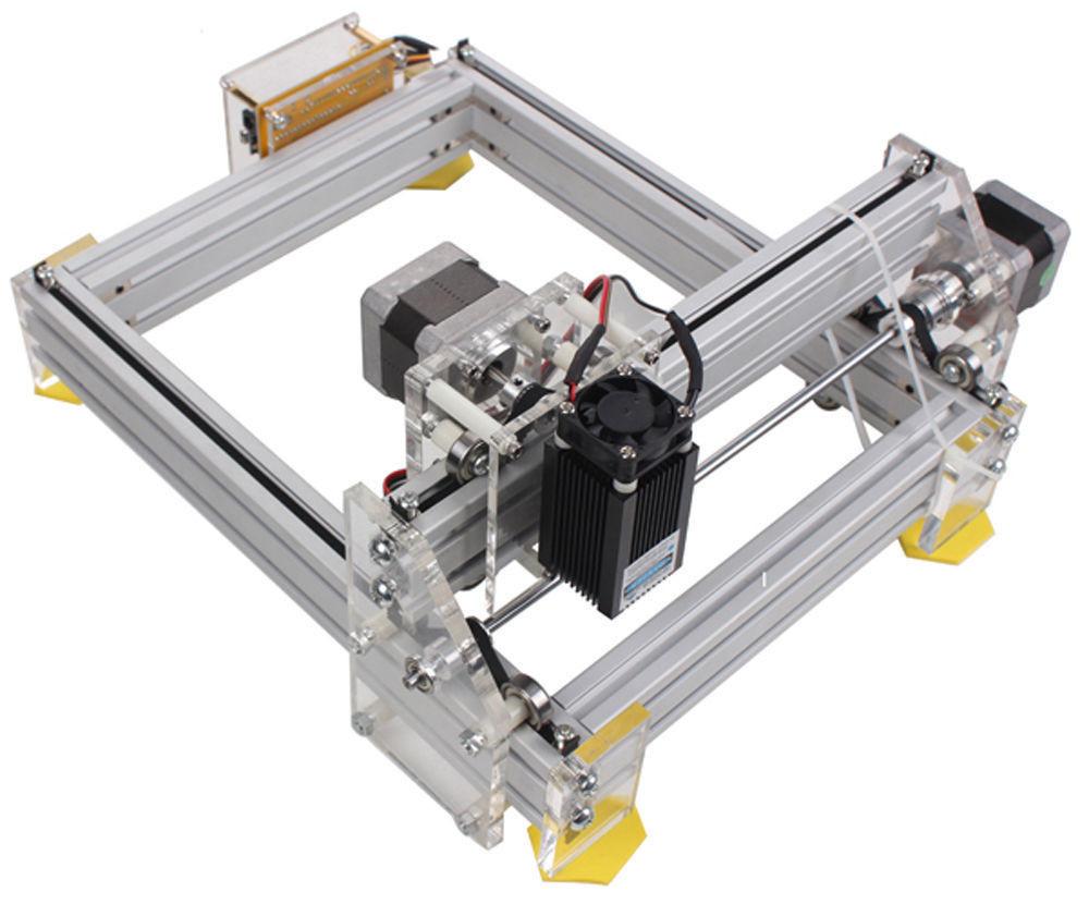 Laser Engraver Diy  DIY Desktop Mini Laser Cutting Engraving Machine 500mW