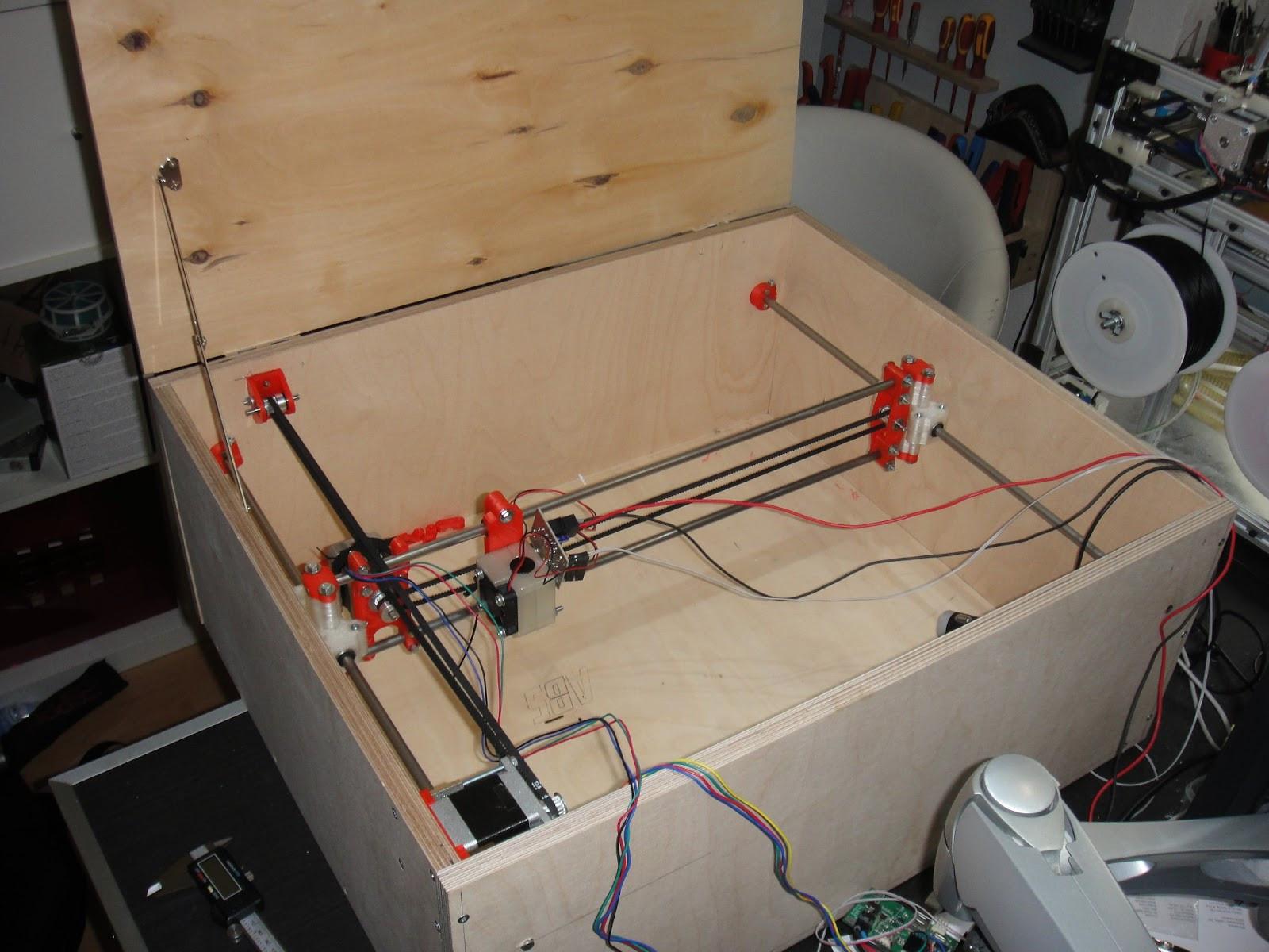 Laser Engraver Diy  DIY laser cutter built to make stencils