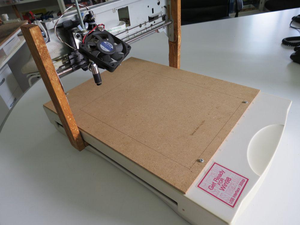 Laser Engraver Diy  Davide Gironi A DIY A4 Laser Engraver made from a scanner