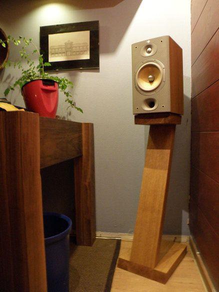Lautsprecherständer Diy  diy Wood Bookshelf Speaker Stand