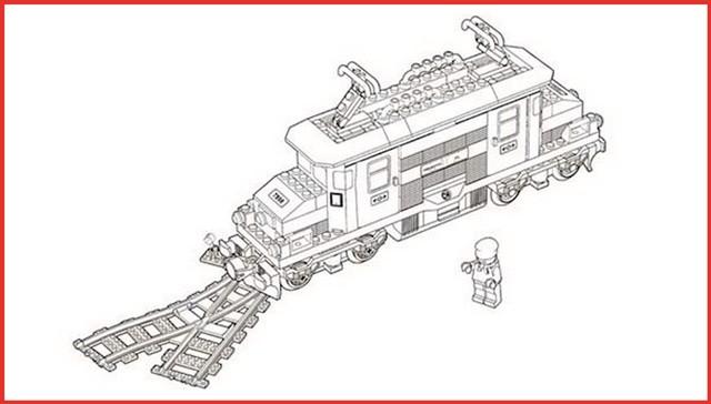 Lego City Ausmalbilder  Lego City Eisenbahn Ausmalbilder Rooms Project Rooms
