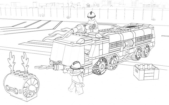 Lego City Ausmalbilder  Lego Movie City Undercover Ausmalbilder Ausmalbilder von