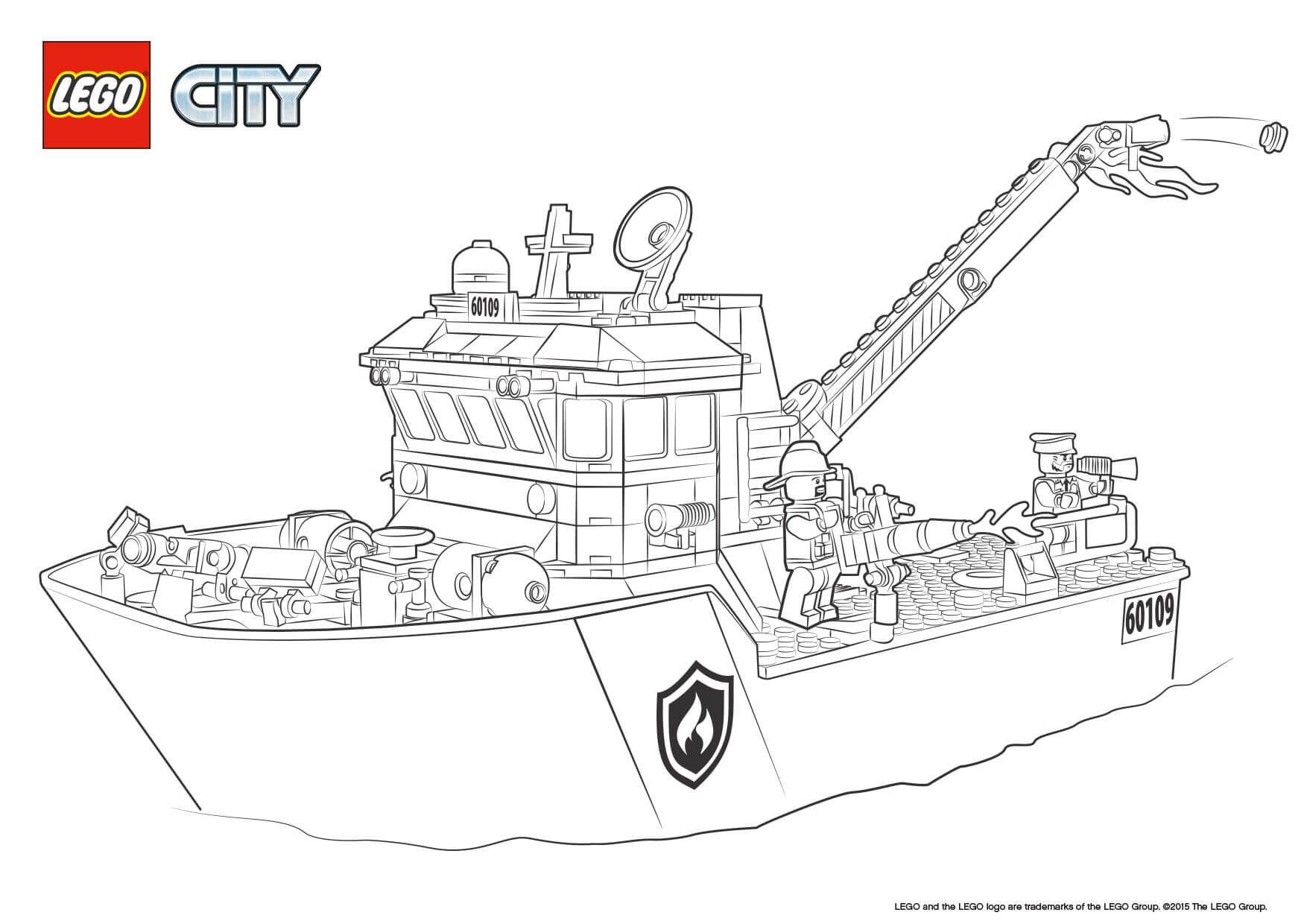 Lego City Ausmalbilder  lego city feuerwehr ausmalbilder 842 Malvorlage Lego