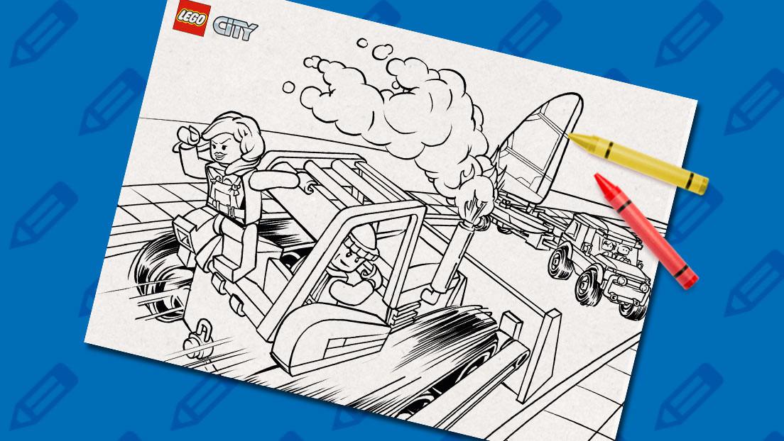 Lego City Ausmalbilder  Bulldozer Ausmalbilder LEGO City LEGO DE