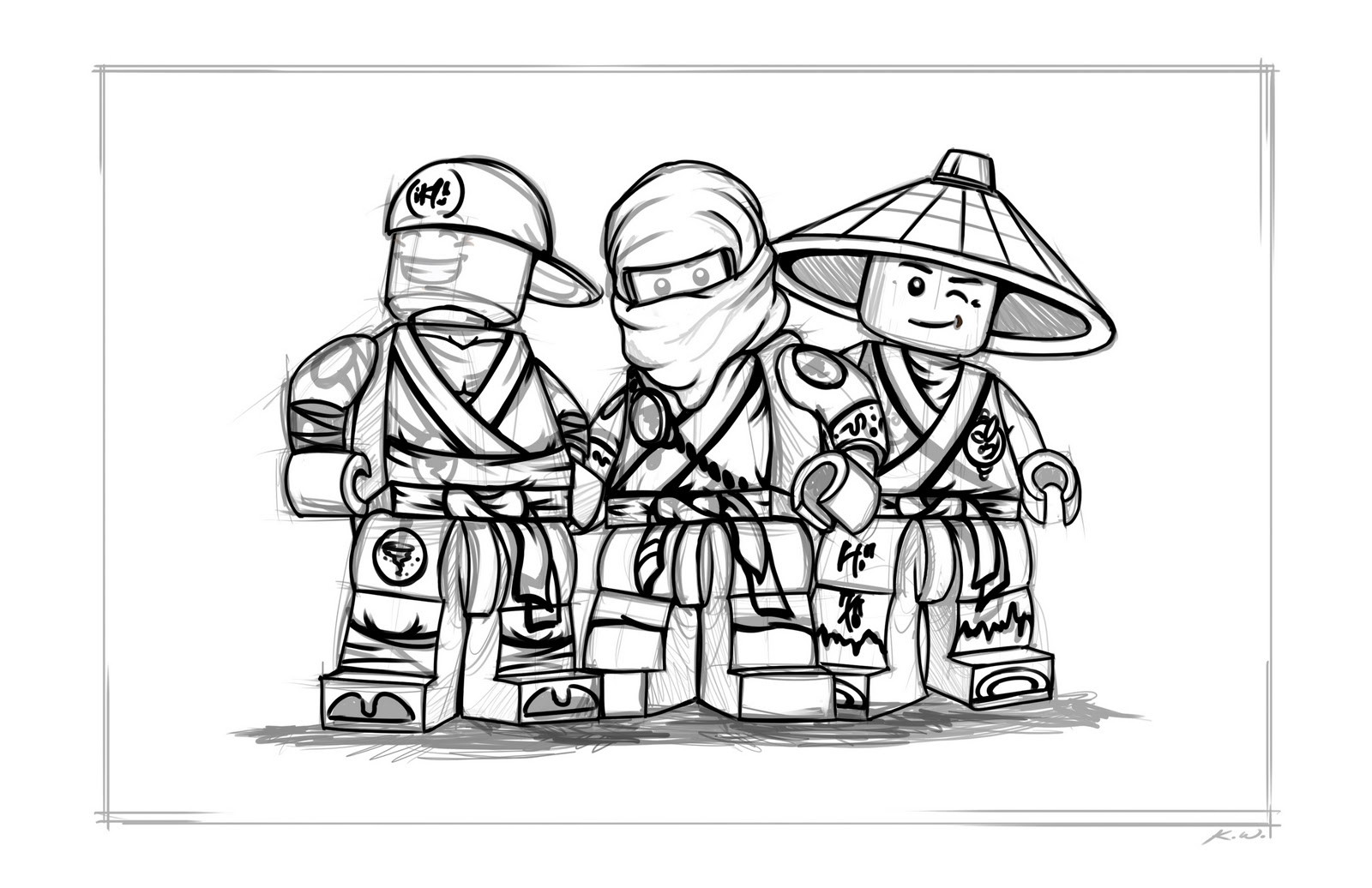 Lego Malvorlagen  Malvorlagen fur kinder Ausmalbilder Lego Ninjago