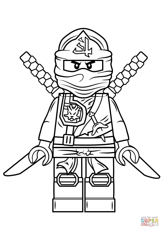 Lego Ninjago Ausmalbilder  Ausmalbild Lego Ninjago Green Ninja