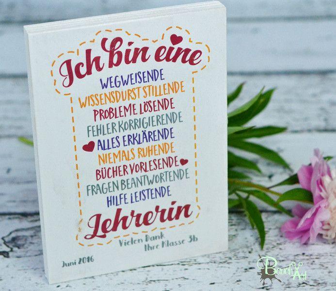 Lehrer Geschenke  Lehrerin Geschenk Holztafel Holzschild Abschied