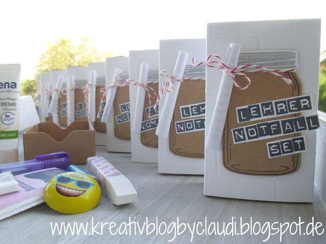Lehrer Geschenke  Notfall Set für Lehrer Kreativ Blog by Claudi