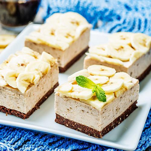 Leichter Kuchen  Leichter Low Carb Bananen Frischkäse Kuchen ohne backen