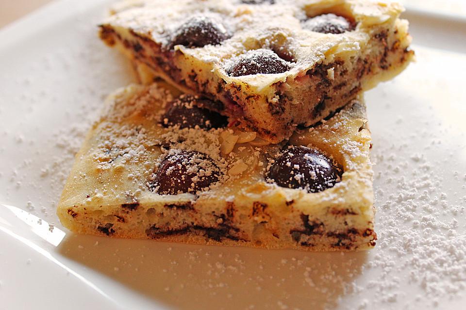 Leichter Kuchen  Leichter Buttermilch Kirsch Kuchen Rezept mit Bild