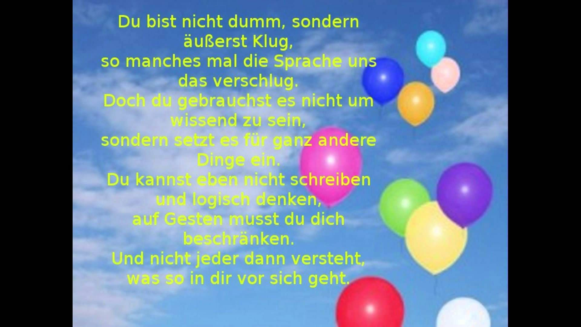 Lustige Geburtstagsgedichte  Alles Gute Zum Geburtstag Gedichte