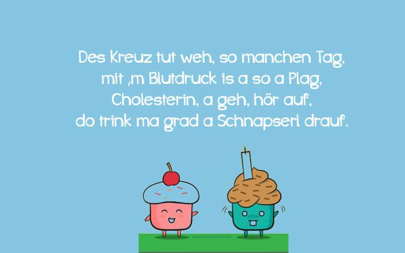 Lustige Geburtstagsgedichte  Lustige Gedichte Zum Geburtstag Bayrisch