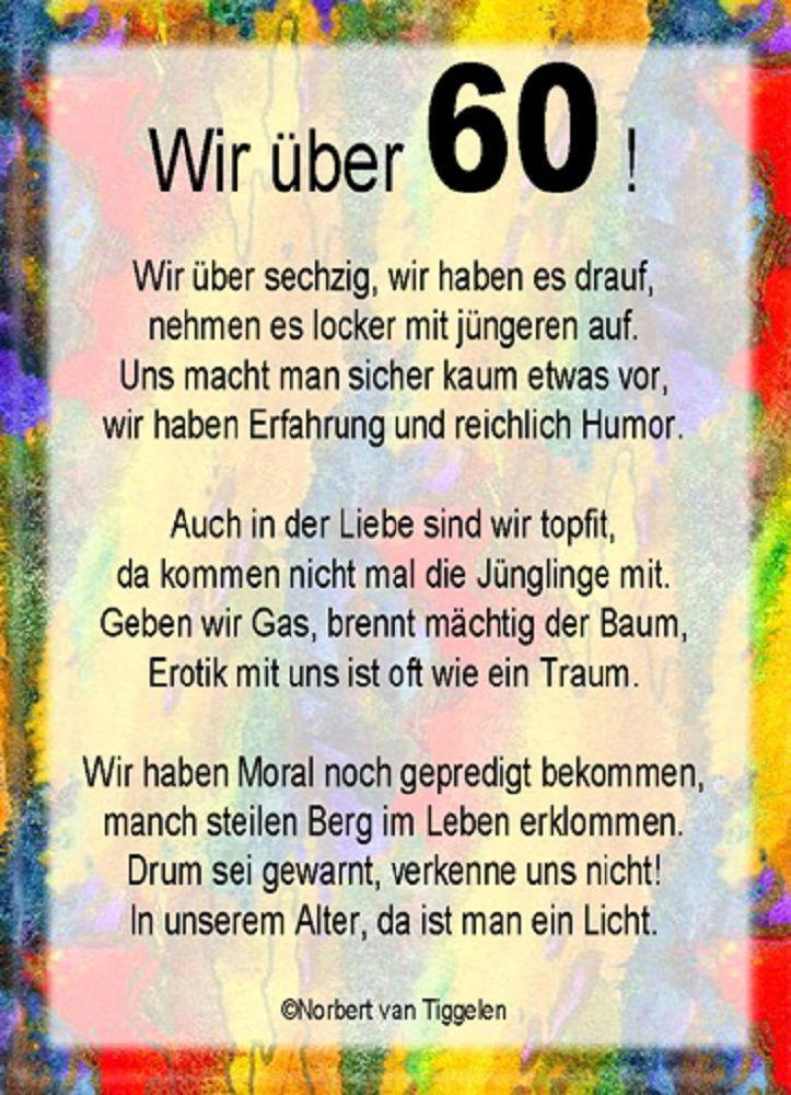 Lustige Geburtstagsgedichte Zum 50  Lustige Bilder Zum 60 Geburtstag Zum Ausdrucken