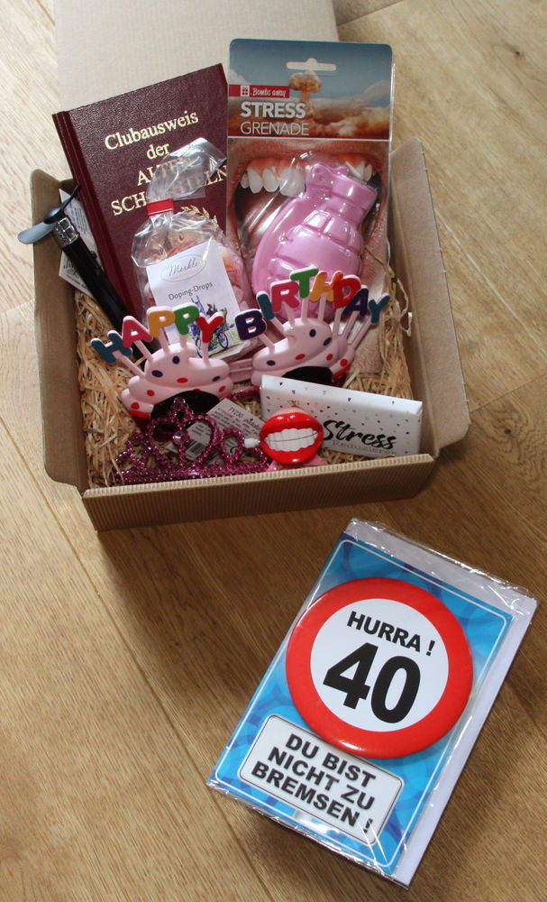 Lustige Geschenke Für Frauen  40 Geburtstag Geschenk Frau Geschenkidee