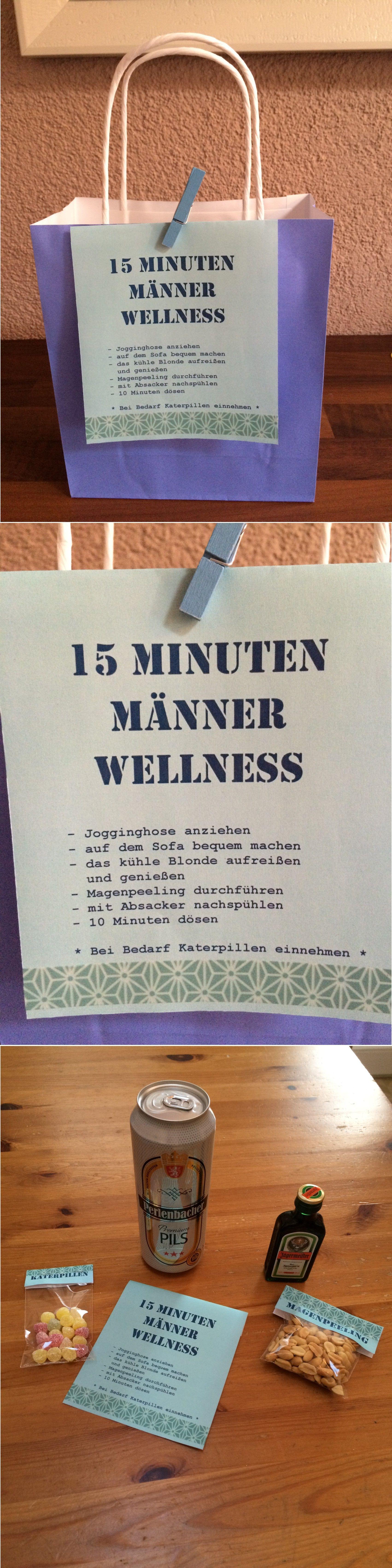 Lustige Geschenke Für Männer  15 Minuten Männer Wellness Geschenkidee für den Mann
