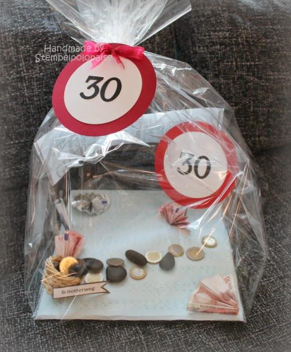 Lustige Geschenke Zum 30 Geburtstag Selber Machen  Stempelpolonaise zum 30 Geburtstag