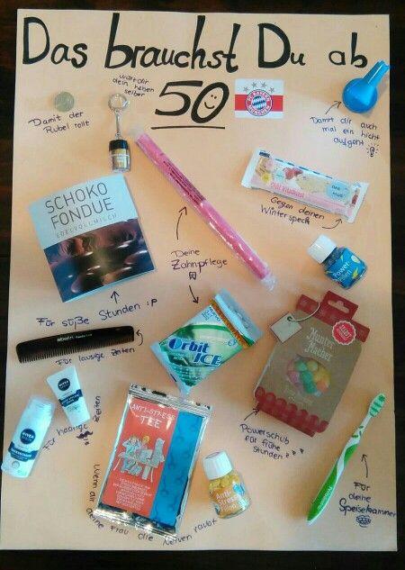 Lustige Geschenke Zum 50 Geburtstag Selber Machen  Geburtstags geschenkt zum 50 Geschenkideen