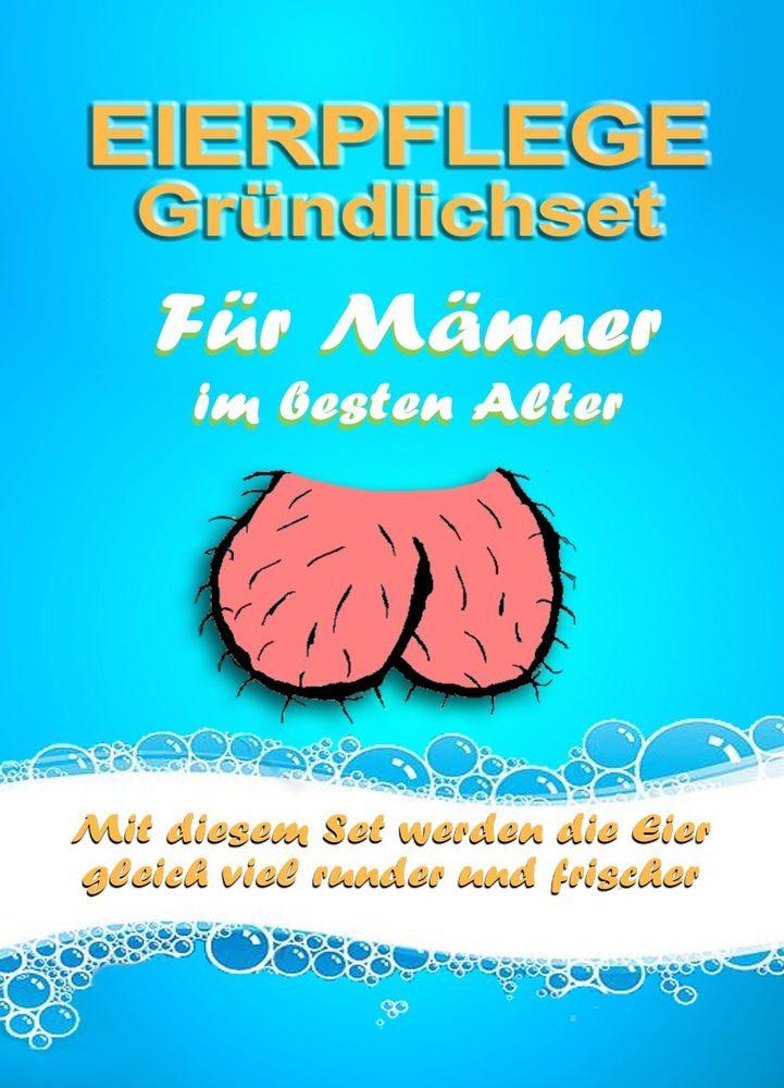 Lustige Geschenke Zum 60. Geburtstag Für Männer  Gemeine Geschenkidee zum Geburtstag Mann Eierpflege