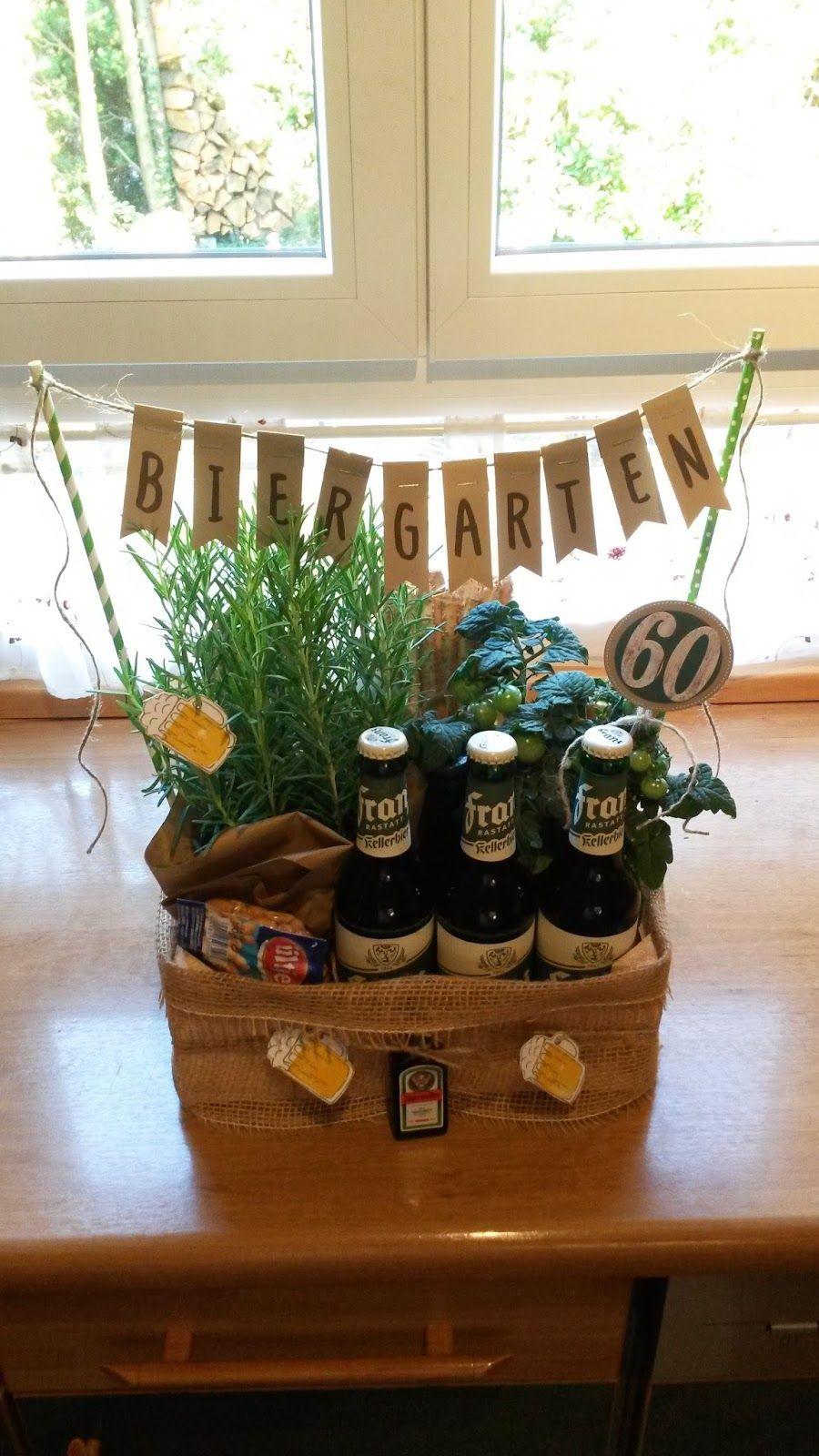 Lustige Geschenke Zum 60. Geburtstag Für Männer  Biergarten 60 Geburtstag Geschenk