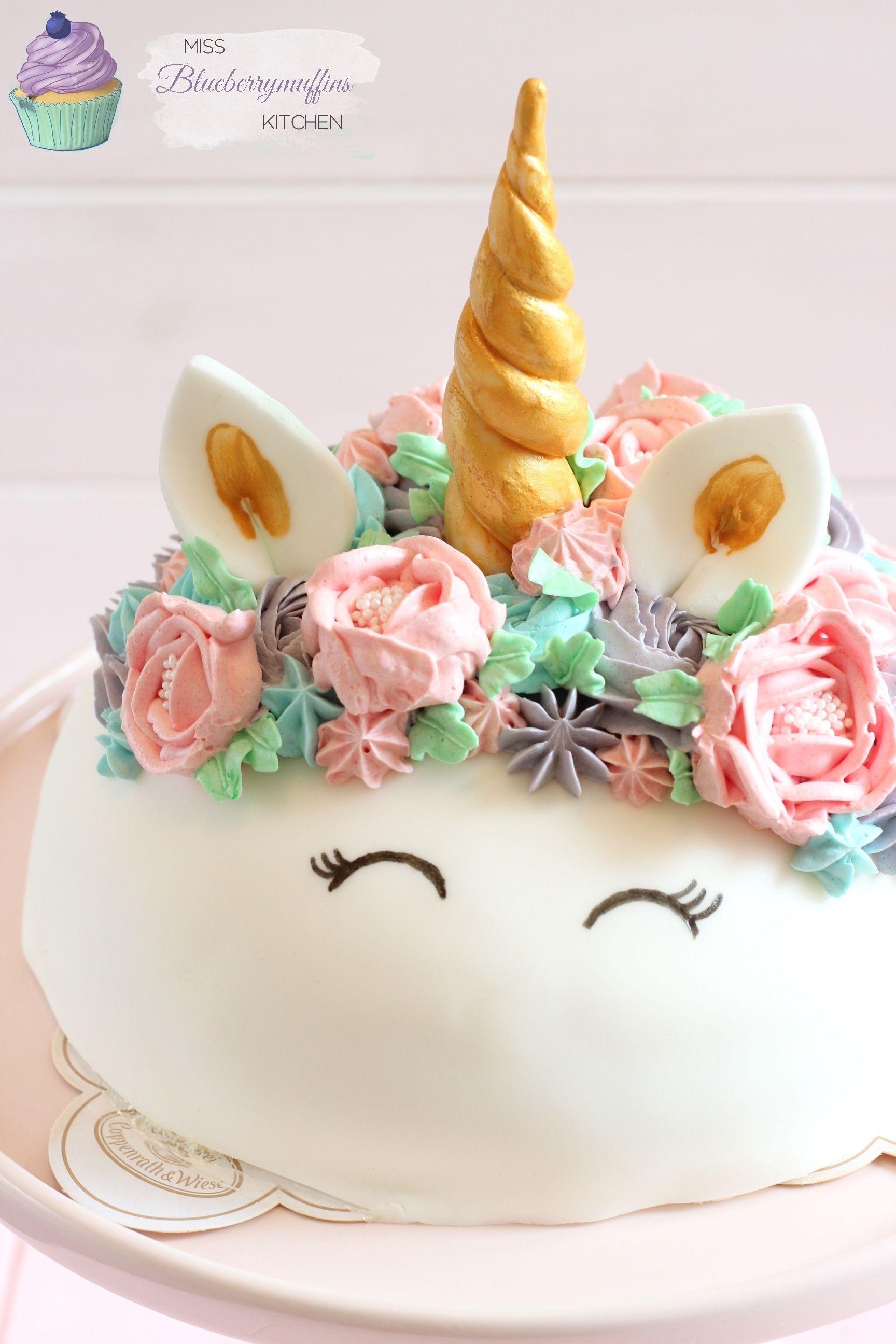 Mädchen Geburtstagstorte  Super einfache Einhorn Torte Mädchen Geburtstagstorte