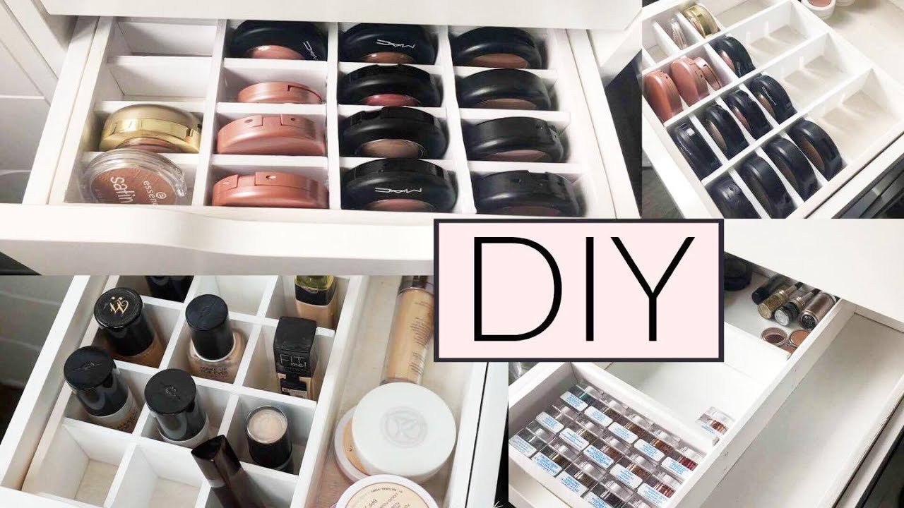 Make Up Aufbewahrung Diy  DIY 😍 PERFEKTE IKEA ALEX MAKE UP ORGANISATION