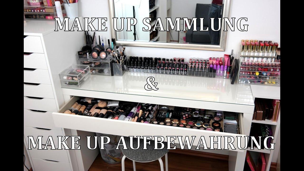 Make Up Aufbewahrung Diy  MAKE UP SAMMLUNG & AUFBEWAHRUNG Mein Schminktisch