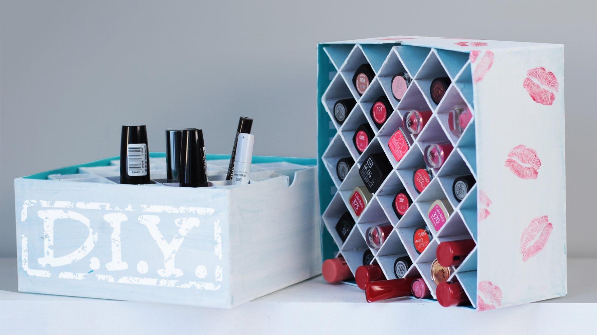 Make Up Aufbewahrung Diy  DIY Makeup Aufbewahrung Lippenstift Box Deko
