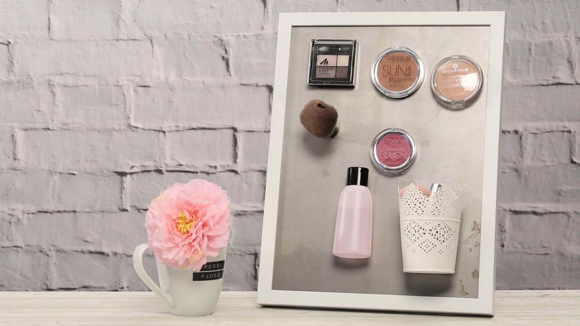 Make Up Aufbewahrung Diy  Magnettafel selber machen für deine Make up Aufbewahrung
