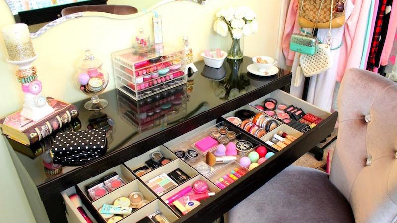 Make Up Aufbewahrung Diy  Rangement maquillage pratique et joli en 15 idées originales