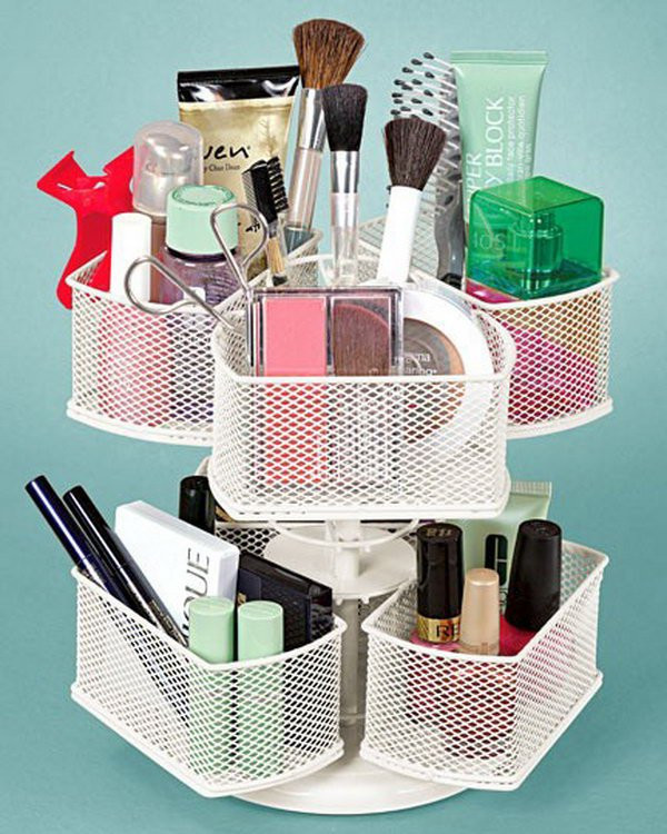 Make Up Organizer Diy  DIY Organization Hacks For Small Spaces All For Fashions