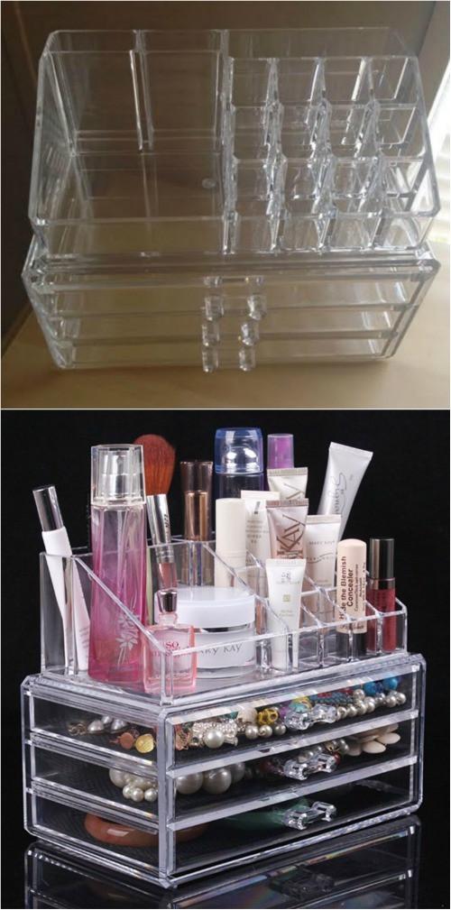 Make Up Organizer Diy  21 DIY Makeup Organizing Solutions that'll Change Your