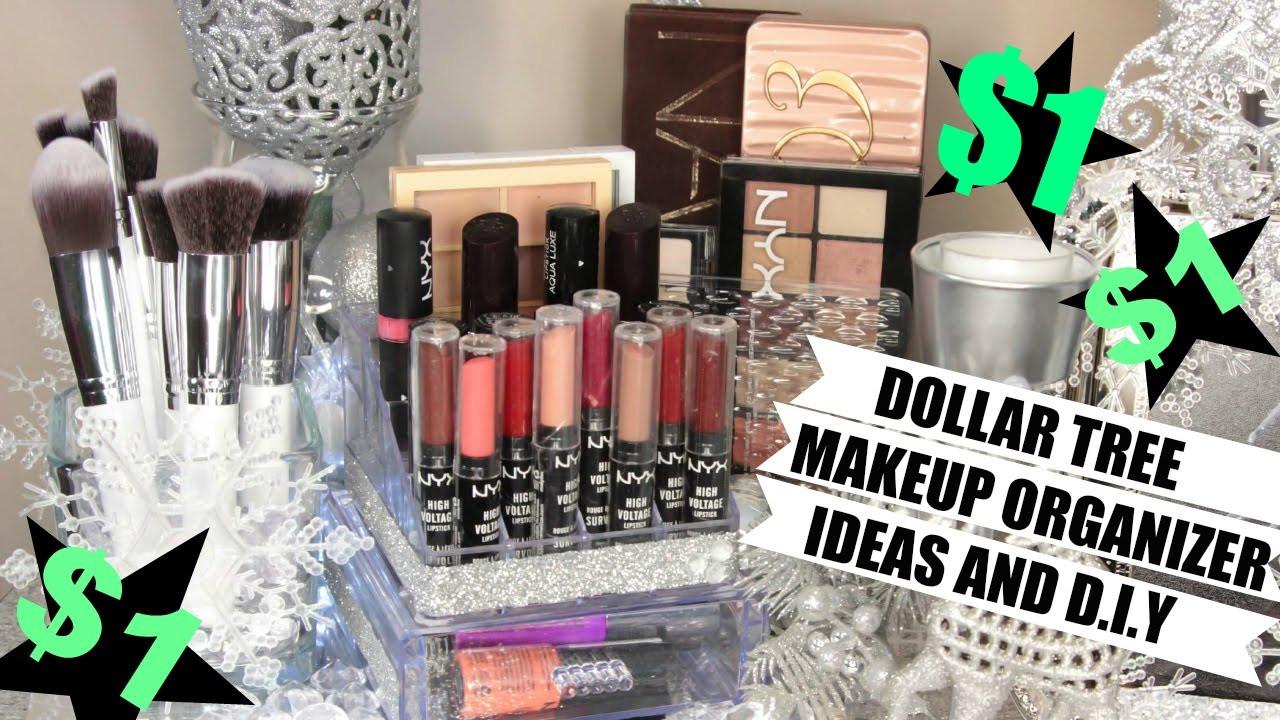 Make Up Organizer Diy  $1 Makeup Organizers Dollar Tree Ideas and D I Y