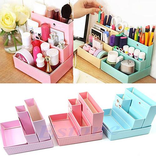 Make Up Organizer Diy  Paper Board Storage Box Desk Decor DIY Stationery Makeup