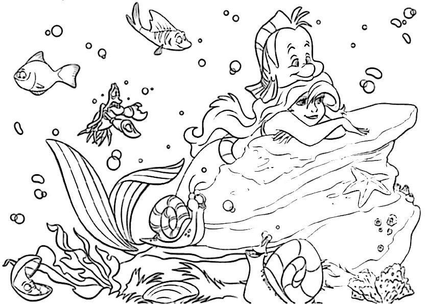 Malvorlagen Arielle  Malvorlagen Arielle Die Meerjungfrau Ausmalbilder von