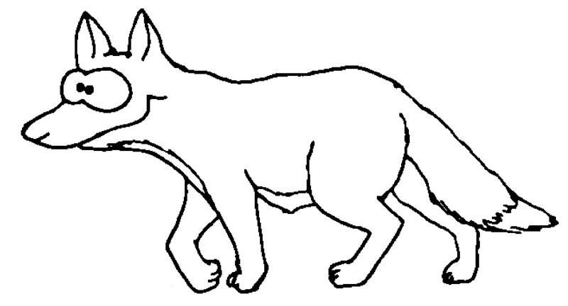 Malvorlagen Fuchs  Fuchs