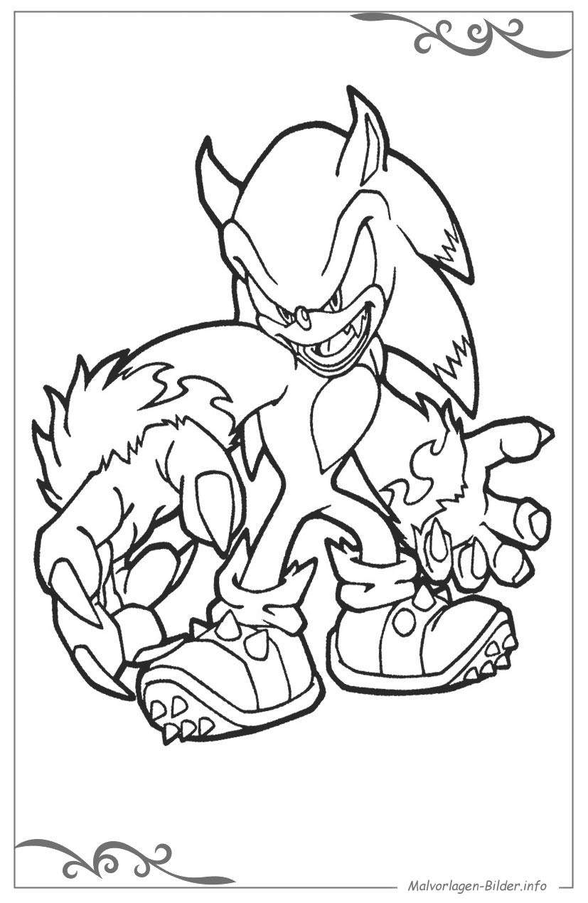 Malvorlagen Für Jungs  Sonic X malvorlagen für jungs zum ausdrucken