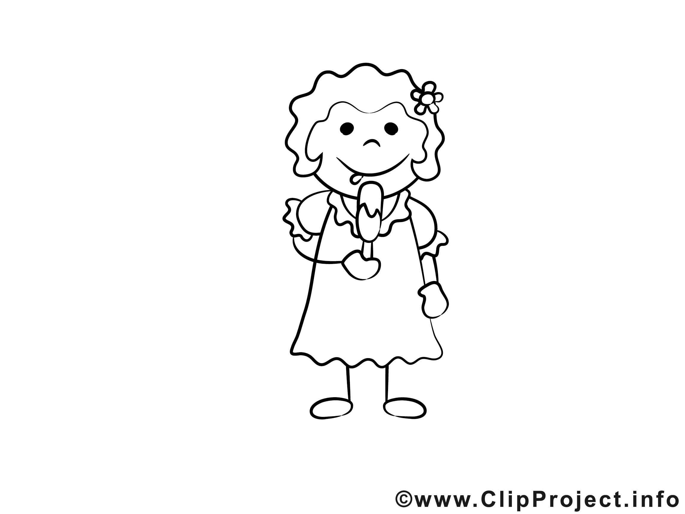 Malvorlagen Für Mädchen  Mädchen mit Eis Bilder zum Ausmalen