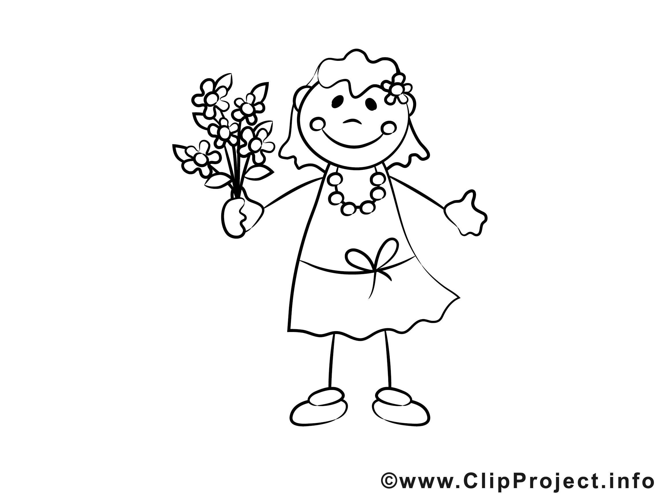 Malvorlagen Für Mädchen  Mädchen mit Blumen Ausmalbild für Kinder kostenlos ausdrucken