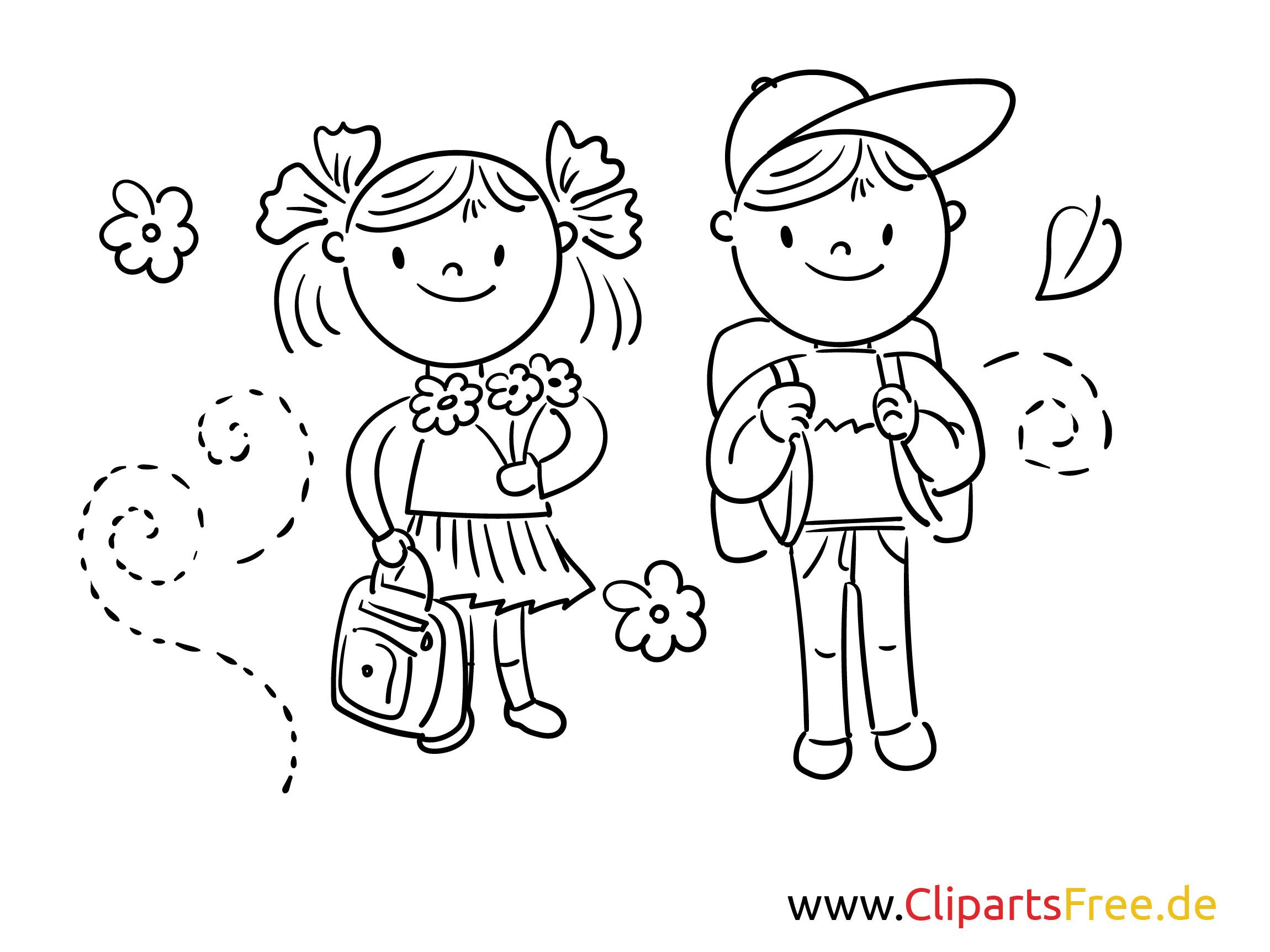 Malvorlagen Für Mädchen  Junge und Mädchen Schulbilder Malvorlagen