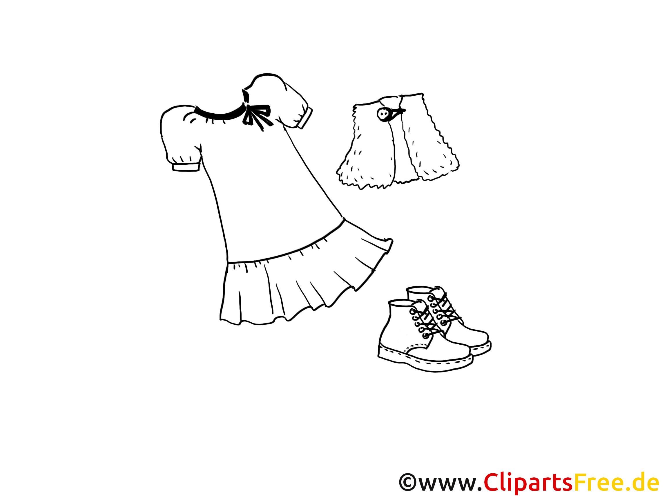 Malvorlagen Für Mädchen  Kleidung für Mädchen Malvorlage