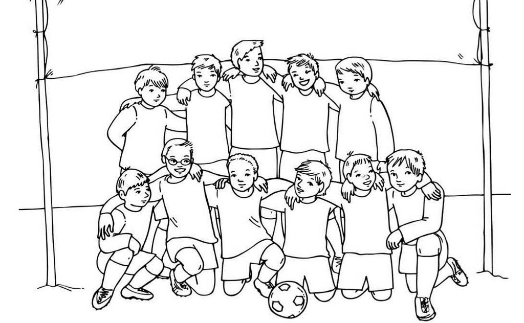 Malvorlagen Fußball  fussball mannschaft malvorlagen bilder fussball